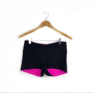 Lululemon Black Pink Reversible Shorts Size 6